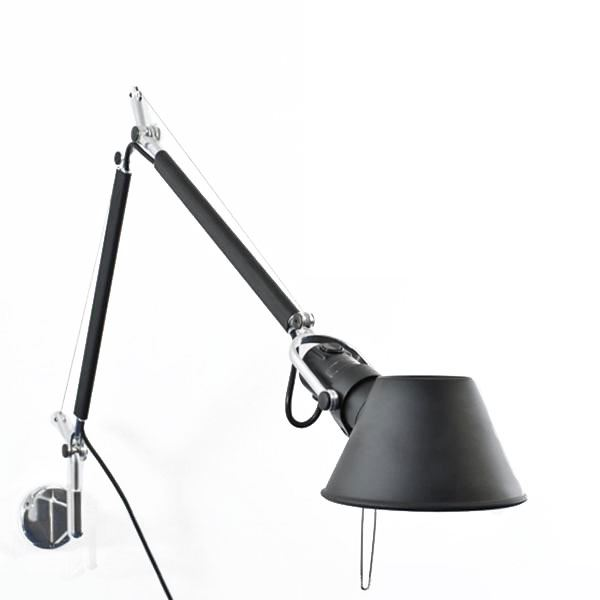 artemide tolomeo mini vegglampe sort. Black Bedroom Furniture Sets. Home Design Ideas