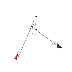 Astep VV Cinquanta Taklampe Suspension Sort/Rød