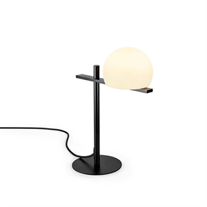 Estiluz Circ Bordlampe Sort