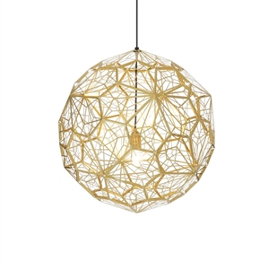 Tom Dixon Etch Web Brass Taklampe EU