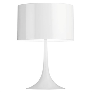 Flos Spun Light T2 Bordlampe Hvit