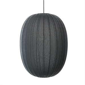 Made By Hand Knit-Wit Oval Taklampe Sort Ø65