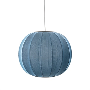 Made By Hand Knit-Wit Round Taklampe Blue Stone  Ø45
