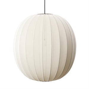 Made By Hand Knit-Wit Round Taklampe Pearl White  Ø75