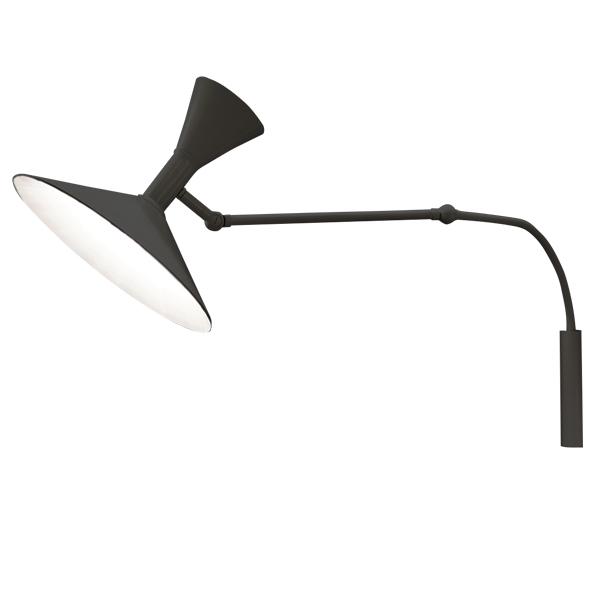 Nemo Lampe de Marseille Mini Vegglampe Sort Fri frakt!