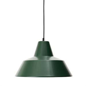 Made By Hand Verkstedslampe Taklampe Racing Green W3