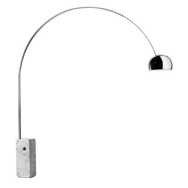 flos arco gulvlampe innebygget led lysdimmer. Black Bedroom Furniture Sets. Home Design Ideas