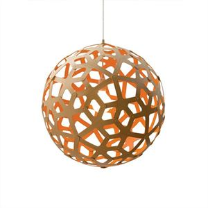 David Trubridge Coral Orange Taklampe