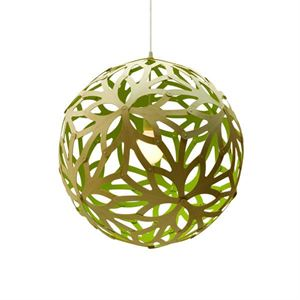 David Trubridge Floral Lime Taklampe