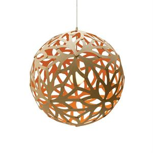 David Trubridge Floral Orange Taklampe