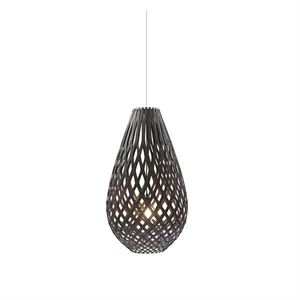 David Trubridge Koura Sort Taklampe