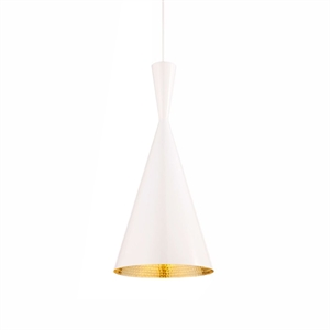 Tom Dixon Beat Taklampe Tall Hvit